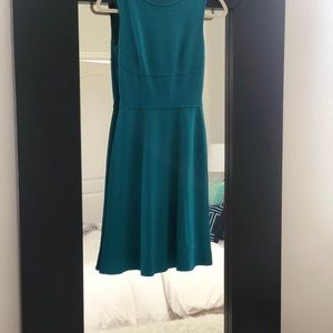 Elie Tahari A line dress. Dark turquoise color